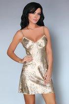 Сорочка Dragana на тонких бретелях, цвет шампань, размер M - Livia Corsetti