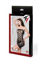 Ажурное платье-труба без бретелей - Femme Fatale
