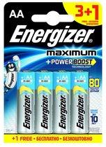 Батарейки Energizer MAX типа E91/AA - 4 шт. (3+1 в подарок) - Energizer