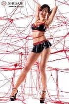 Комплект Mai в комплекте с веревками для связывания, цвет красный/черный, размер S - Demoniq