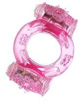 Розовое виброкольцо с двумя батарейками, цвет розовый - Toyfa