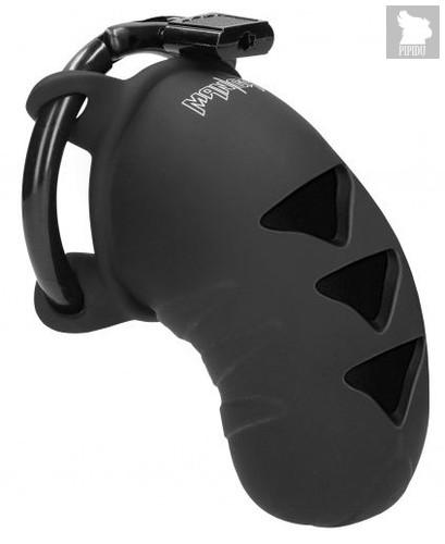 Черный мужской пояс верности Cock Cage Model 07 Chastity 3.1, цвет черный - Shots Media