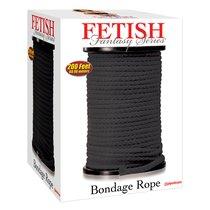 Черная веревка для связывания Bondage Rope - 60,9 м., цвет черный - Pipedream