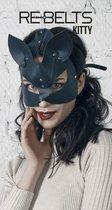 Маска с кошачьими ушками Kitty Black, цвет черный - Rebelts