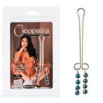 Зажим на половые губы Cleopatra Collection Clitoral Jewelry Beads, цвет серебряный/хром - California Exotic Novelties