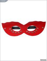 Маска CLASSIC с заклепками, красная, P3021R, цвет красный - Penthouse