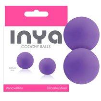 Вагинальные шарики INYA - Coochy Balls - Purple, цвет фиолетовый - NS Novelties