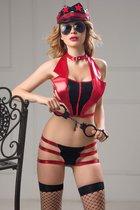 Соблазнительный костюм полицейской Roxy, цвет красный/черный, S-L - Candy girl