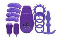 Фиолетовый вибронабор FLIRTY KIT SET, цвет фиолетовый - Nanma (NMC)