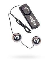 Вагинальные шарики Duo Balls с вибрацией, цвет хром - Seven Creations