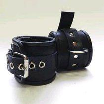 Наножники неподшитые, ремешок с пряжкой с 1 сварным кольцом, цвет черный - Beastly (Бистли)