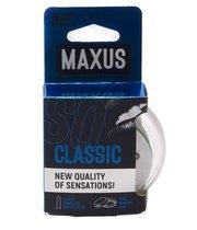 Классические презервативы в пластиковом кейсе MAXUS Classic - 3 шт. - maxus