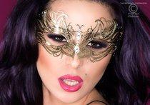 Карнавальная маска Chilirose, цвет золотой - Chilirose