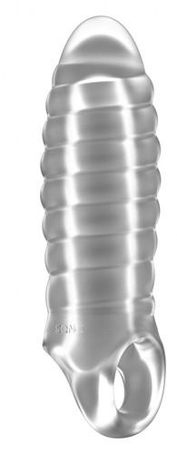 Прозрачная насадка на пенис закрытого типа N 36 Stretchy Thick Penis Extension - 15,2 см., цвет прозрачный - Shots Media