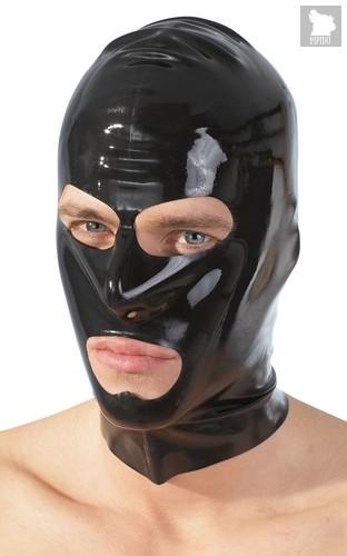 Шлем-маска на голову с отверстиями для рта и глаз, цвет черный - ORION