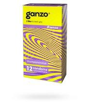 Презервативы Ganzo Sense №3 ультратонкие, 12 шт. - Ganzo