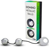 Вагинальные шарики Domino Metallic Balls хромированные, цвет серебряный - Seven Creations