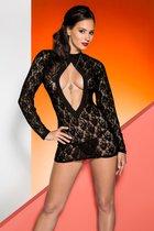 Кружевное платье Rayen с длинными рукавами, цвет черный, размер S-M - Avanua