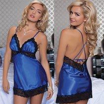 Сорочка Enchanting Chemise, с трусиками, цвет синий, M - Seven`til Midnight