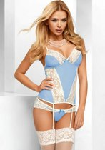 Корсаж Eden corset, с трусиками, цвет голубой, S-M - Avanua