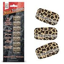 Набор лаковых полосок для ногтей Леопард NAIL FOIL, цвет коричневый/оранжевый - Erotic Fantasy