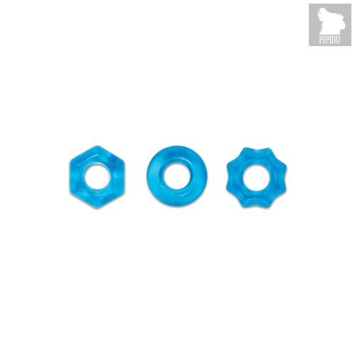 Набор эрекционных колец Renegade - Chubbies - Blue, цвет голубой - NS Novelties