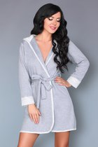 Уютный халатик с капюшоном Jayanti, цвет серый, размер L-XL - Livia Corsetti