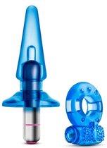 Голубой вибронабор Get Off из 3 предметов, цвет голубой - Blush Novelties