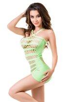 Обворожительное платье-сетка Joli Venice, цвет зеленый, L-XL - Erolanta