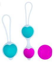 Набор вагинальных шариков Pretty Love, цвет голубой/фиолетовый - Baile