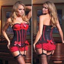 Корсет Queen с красным лифом, цвет красный/черный, M - Coquette Internatonal