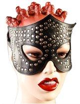 Чёрная маска-очки с клёпками, цвет черный - Подиум