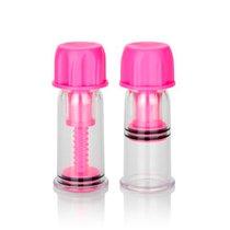 Вакуумные массажёры для сосков Nipple Play Vacuum Twist Suckers, цвет розовый - California Exotic Novelties