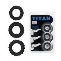 Набор Titan из 3 эрекционных колец, имитирующих автомобильные шины - Baile