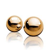 Вагинальные шарики Ben-Wa Balls золотистого цвета, цвет золотой - Pipedream