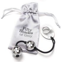 Тяжелые металлические вагинальные шарики Silver Metal Ben Wa Balls, цвет серебряный - Lovehoney