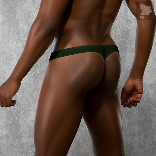 Мужские стринги цвета хаки, цвет зеленый, XL - Doreanse