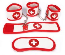 Оригинальный игровой набор БДСМ в медицинском стиле, цвет белый/красный - Bioritm