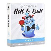 стимулирующий презерватив-насадка Roll & Ball Classic, цвет прозрачный - Sitabella (СК-Визит)