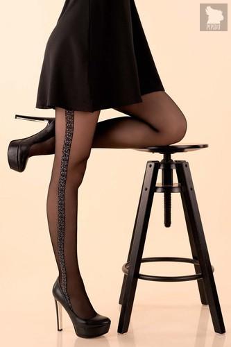 Изящные колготки Villi с мозаичным узором, цвет черный, 4 - Livia Corsetti