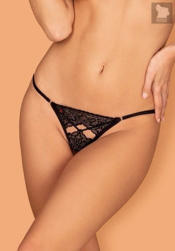 Кружевные трусики-стринги Meshlove, цвет черный - Obsessive