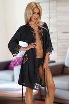 Пеньюар Ambrosia с кружевной оторочкой и пикантными вырезами, S-M - Beauty Night