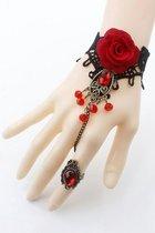 Браслет Medeia, цвет красный/черный, размер S-L - Livia Corsetti