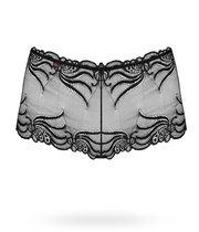 Кружевные трусики-шорты, цвет черный, размер S-M - Obsessive