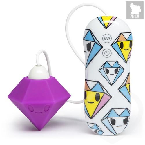 Вибратор клиторальный tokidoki 10 Function Silicone Clitoral Vibrator, цвет белый/фиолетовый - Lovehoney