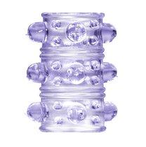 Фиолетовая насадка на пенис Rings Armour, цвет пурпурный - Lola Toys