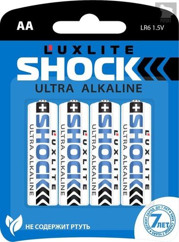 Батарейки Luxlite Shock (BLUE) типа АА - 4 шт. - LUXLITE