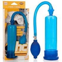 Вакуумная помпа Head Coach Penis Pump, цвет голубой - California Exotic Novelties