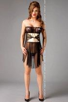 Сорочка Goldie, цвет черный, L-XL - Me Seduce