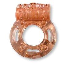 Эрекционное виброкольцо Luxe VIBRO - Кошмар русалки, цвет оранжевый - LUXLITE